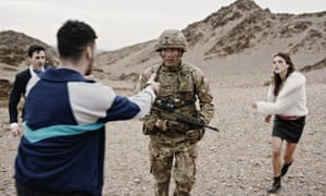 a soldier faces temptations in the british army advert