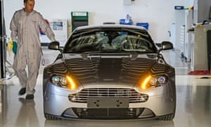 An Aston Martin at the factory