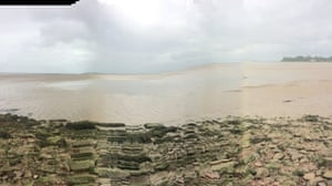 Katrin Joost's view of the outgoing tide near Bowness on Solway