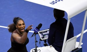 Serena Williams argues with umpire Carlos Ramos at the US Open championships.