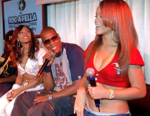 Rihanna with Teairra Mari and Jay-Z, 2005.