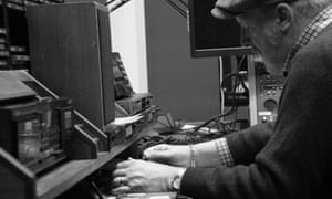 Steve Barker in the studio.