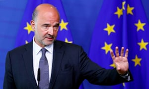 EU commissioner Pierre Moscovici was told to 'wash his mouth out' by Italian deputy PM after saying Little Mussolinis could be on the rise in Europe.