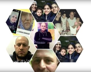 Handout photo shown during the Grenfell inquiry of six members of the Choucair family who died in the fire.