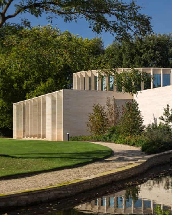 The Sultan Nazrin Shah Centre, Worcester College, Oxford, designed by Niall McLaughlin Architects, which has been shortlisted for the Riba Stirling Prize.