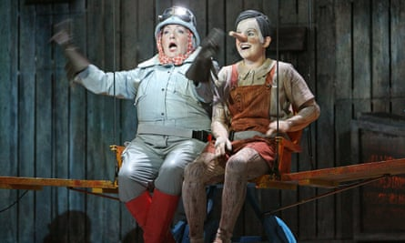 Carole Wilson and Victoria Simmonds in Jonathan Dove's Adventures of Pinocchio at Opera North.