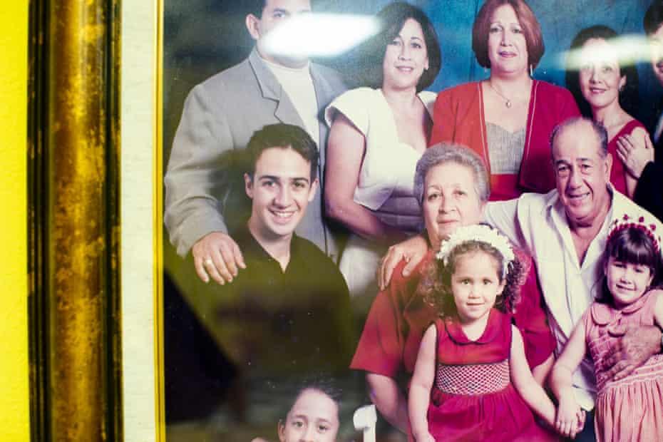 A family portrait of the Mirandas.