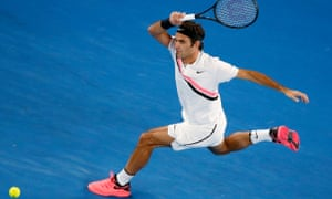 Passing shot: Roger Federer is still hitting winners at the age of 36.