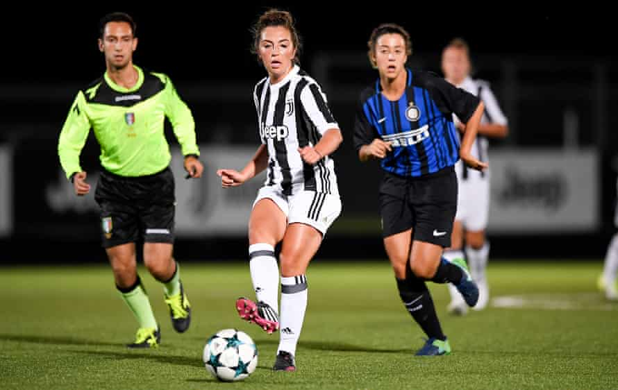 Katie Zelem in action for Juventus against Internazionale in 2017.