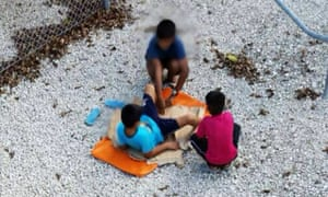 A file image showing children held in Nauru's Australian-run detention centre.