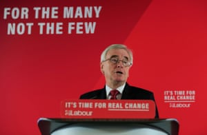 Britain's Shadow Chancellor of the Exchequer John McDonnell today