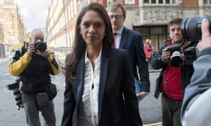 Gina Miller appears at London's high court for the start of her landmark lawsuit.