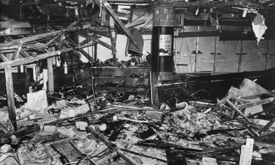Mulberry Bush pub after the explosion