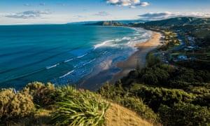 Scenic view of Wainui Beach, Gisborne, New Zealand