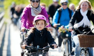 Child cycling in Denmark