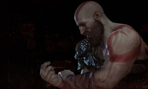 'A conversation with his son is a Herculean task' … Kratos in God of War.