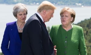 May, Trump, Merkel