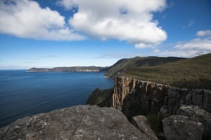 The view of Cape Pillar on route to Cape Hauy.