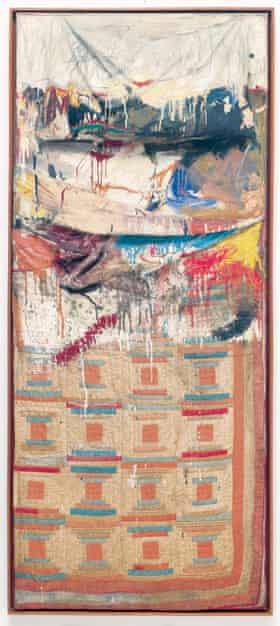 Bed, 1955, featuring the artist's pillow and duvet.