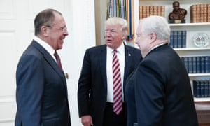 President Trump with Russian foreign minister Sergei Lavrov and Russian ambassador to the US Sergei Kislyak at the White House