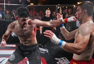 Moscow, RussiaCompetitors compete in a bout during the Hardcore Fighting Championship aboard the Rio-1 ship. It's the first Russian professional bare-knuckle fighting league with the main prize of 1 million roubles