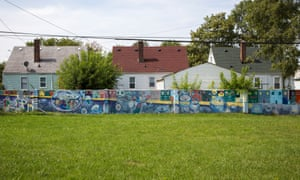 The wall, in Detroit's 8 Mile neighbourhood.