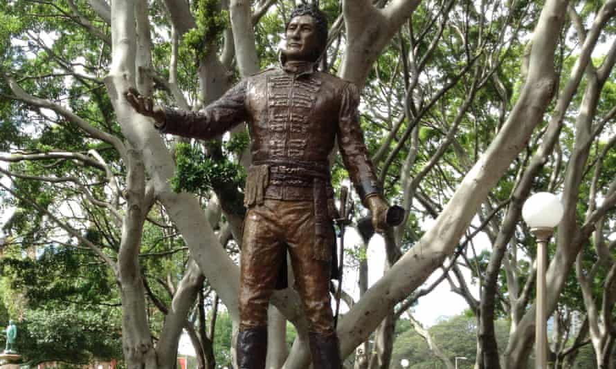 The statue of governor Lachlan Macquarie in Sydney's Hyde Park.