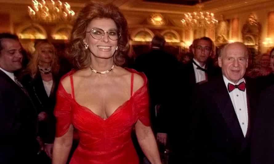 Actor, Sophia Loren, 1996.