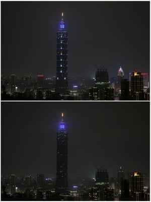 101 building in Taipei, Taiwan earth hour