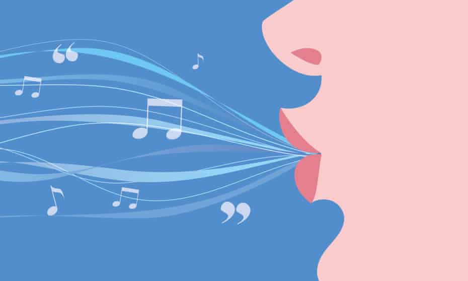 Illustration of a woman's mouth whistling