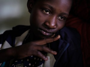"""""""Landscapes do well to describe the immediate scenes, but the gut-wrenching reality of the human toll is more difficult to describe in photographs,"""" says photographer Larry Price. """"My approach was to also humanise the tragedy of Kabwe."""" This portrait is of lead poisoning victim Fostina Kasaila, 11. """"I want to be a soldier,"""" she said. """"I want to protect people."""""""