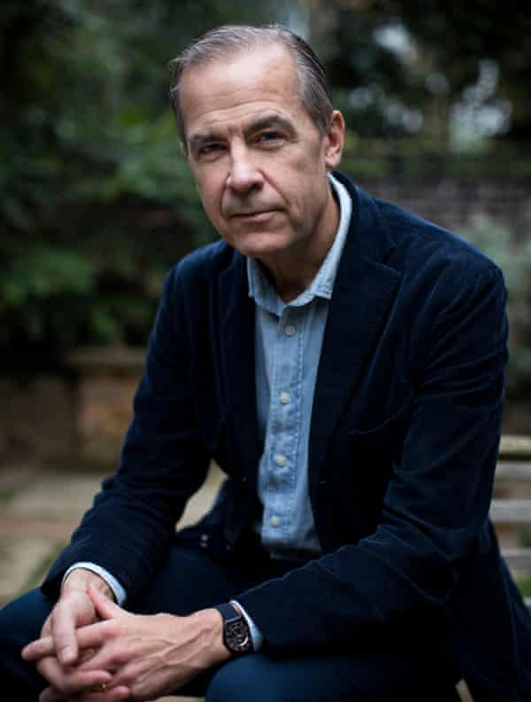 Mark Carney in a garden