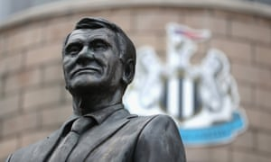 The Sir Bobby Robson statue outside St James' Park
