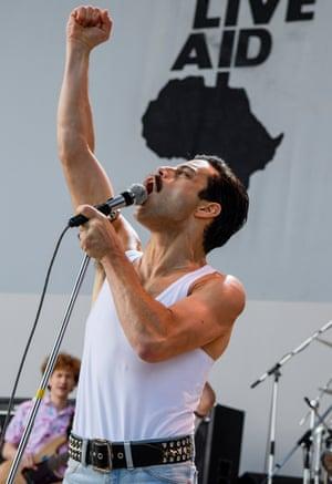 'Deranged final sequence' … Rami Malek in Bohemian Rhapsody.