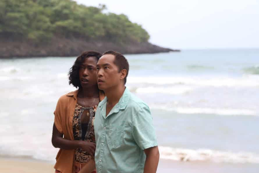 Shore thing: Patricia (Nikki Amuka-Bird) and Jarin (Ken Leung) in Old, written for the screen and directed by M. Night Shyamalan.