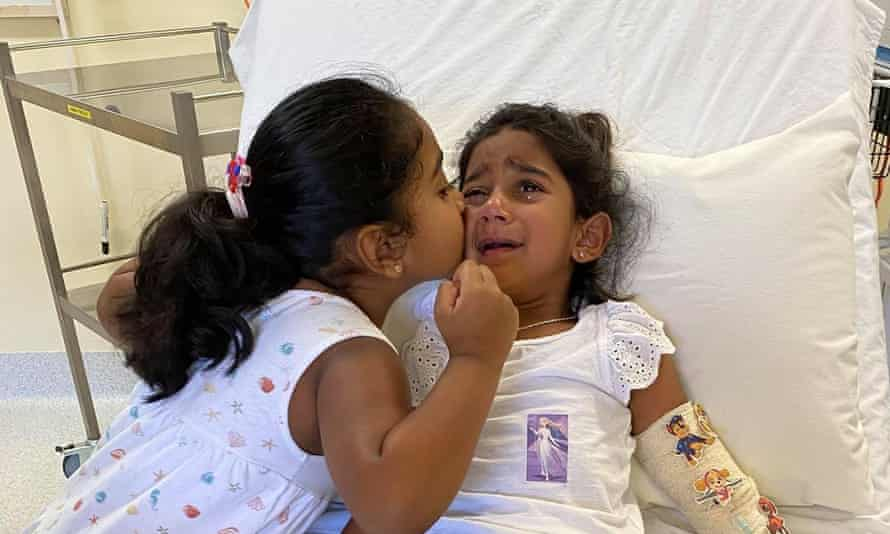 Tharnicaa Murugappan, youngest daughter of the Tamil family from Biloela, has been evacuated from Christmas Island with a suspected blood infection.