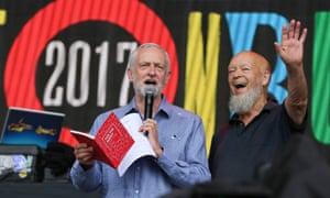 Jeremy Corbyn at the 2017 Glastonbury festival
