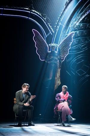 James McArdle (Louis) and Nathan Stewart-Jarrett (Belize) in Angels in