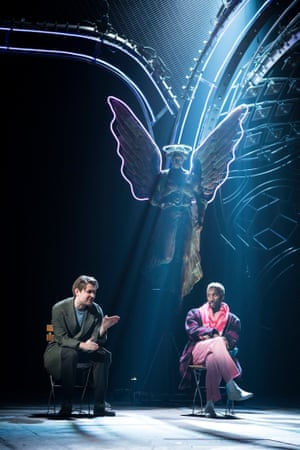 James McArdle (Louis) and Nathan Stewart-Jarrett (Belize) in Angels in America.