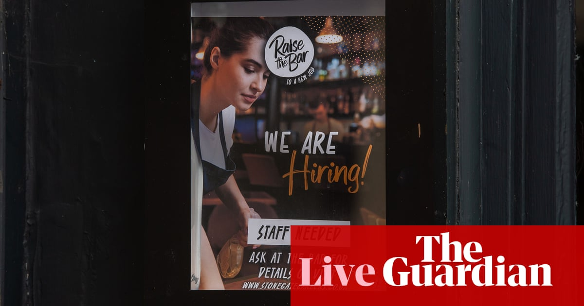 UK unemployment rate drops to 4.5% as vacancies and payrolls hit record – business live