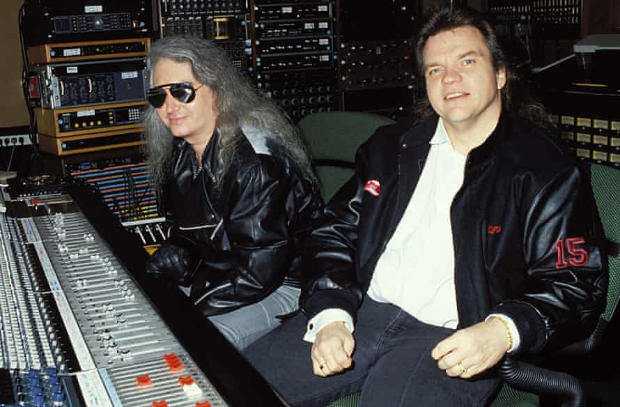 Meat Loaf and Jim Steinman recording Bat Out of Hell II in Los Angeles, 1991