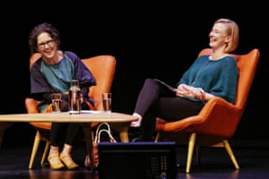 Close friends Annabel Crabb (left) and Leigh Sales.