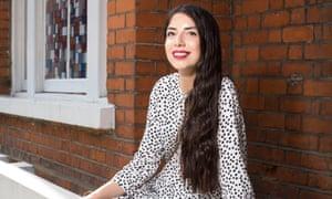 Sirin Kale wearing the Zara polka-dot dress.