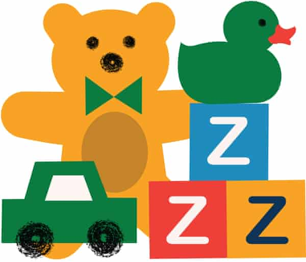 kids' toys and building blocks with 'ZZZ' on them