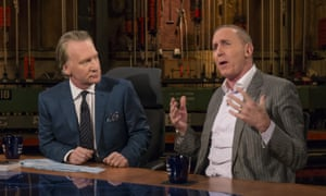 Bill Maher, left, appears with Tony Schwartz, co-author of Donald Trump's book, The Art of the Deal, which he discusses in the New Yorker's podcast.