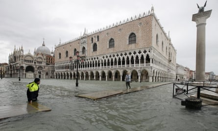 Venetians were hit by a high water of 150cm on Sunday