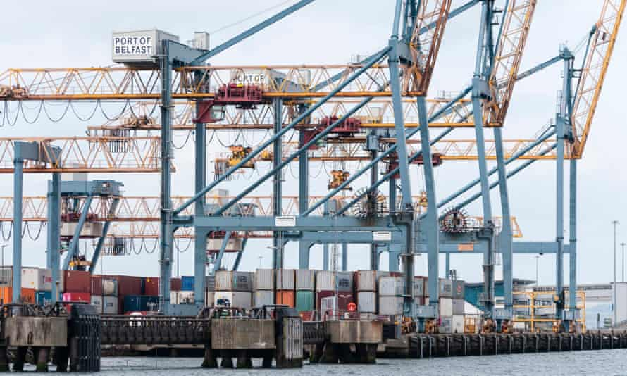 Cranes at the Port of Belfast.