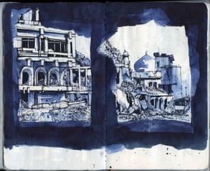 Sketch of Mosul, Iraq, July 2017 by Ghaith Abdul-Ahad