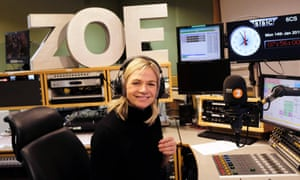 Zoe Ball in her Radio 2 Breakfast Show studio.