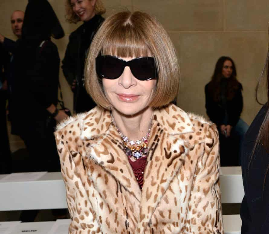Anna Wintour on the front row for the Topshop Unique AW16 show